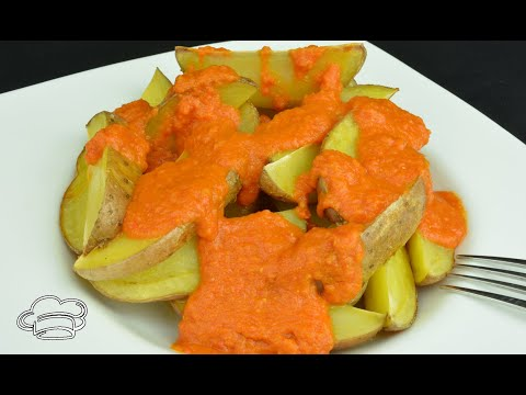 Patatas asadas con salsa brava Mycook. Recetas para dieta