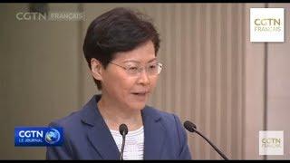 Conférence de presse hebdomadaire de la cheffe de l'exécutif Carrie Lam
