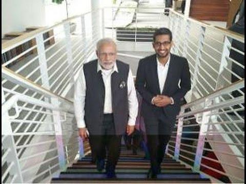 Narendra Modi with Sundar Pichai, bond between India and Silicon Valley - UCvxi7_X1VSaMr_osIamYNaw