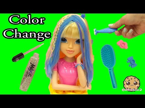 Magic Hair Color Changing Moxie Girlz Doll Style Head Playset - Cookieswirlc Toy Video - UCelMeixAOTs2OQAAi9wU8-g