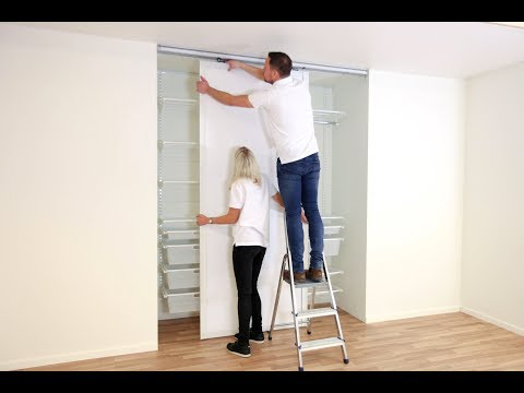 Elfa Assembly instruction: Top hung sliding doors