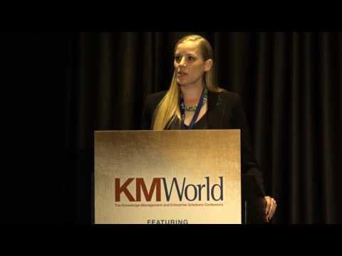 Seal Software's Christina Wojcik Accepts 2016 KMWorld Promise Award HD