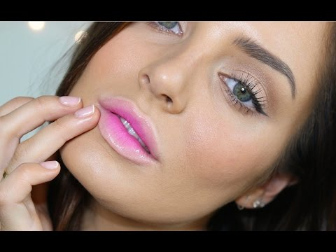 Neon Pink Ombre Lip with Drugstore Products \ Korean Beauty Trend