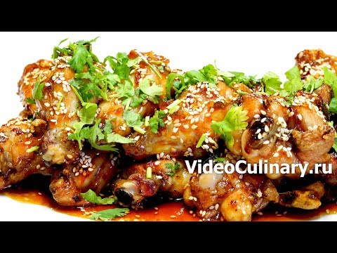 Куриные крылышки в медовом соусе - Простой рецепт от Бабушки Эммы