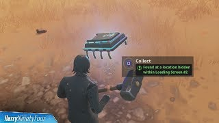 fortbyte 13 found at a location hidden within loading screen 2 guide - where does the knife point on the treasure map loading screen fortnite season 8