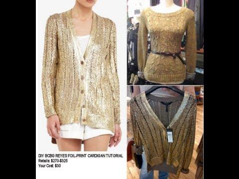 DIY BCBG Inspired Sweater ($325) Tutorial ($30!) - EASY! - UCKJ9_KQcdBnEpmfKUtNKPjw
