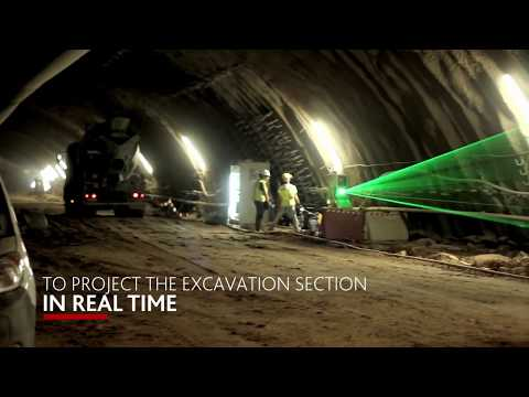 Laser guided system for conventional tunneling