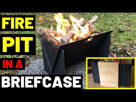 FIRE PIT IN A BRIEFCASE!! (Portable Fire Pit + Custom Carrying Case) photo
