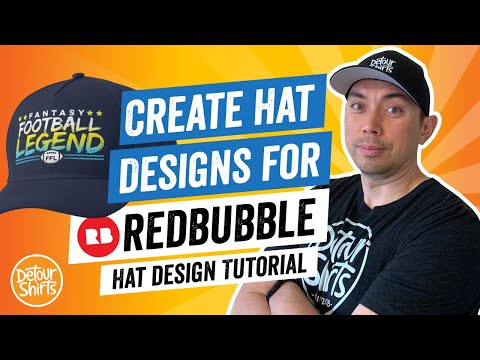 Fantasy Football Hat Design Tutorial for RedBubble. Learn to create this in Affinity Designer.