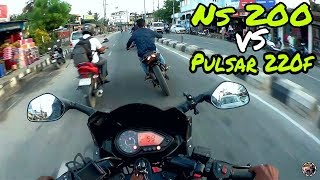 Ns200 vs Pulsar 220f | They forced me to do this | Street Race