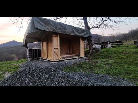 Constructie magazie din lemn Baia Sprie - time lap video wooden shed