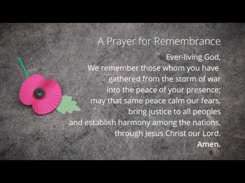 We Will Remember Them - A Prayer for Remembrance