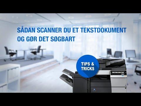 Sådan scanner du et tekstdokument og gør det søgbart