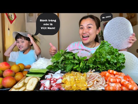 Gỏi cuốn bạch tuộc, tôm, tai heo, trứng, rau vườn chấm mắm nêm & mận chấm muối ớt #921