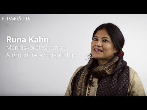 Runa Khan pratar om rohingyabarnen