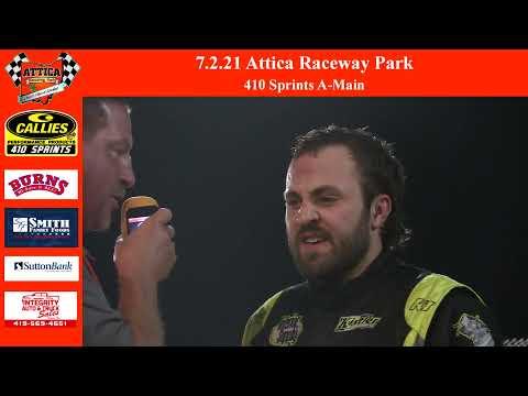 7.2.21 Attica Raceway Park 410 Sprints A-Main - dirt track racing video image