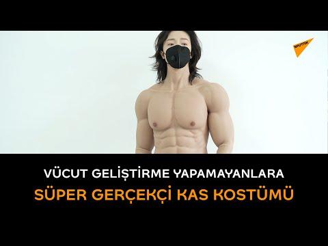 Vücut geliştirme yapamayanlara süper gerçekçi kas kostümü