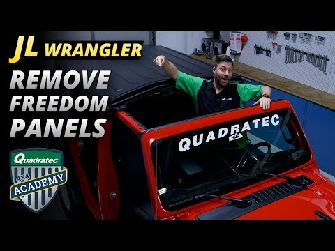 How To Remove Freedom Panels from a 2018 Jeep Wrangler JL