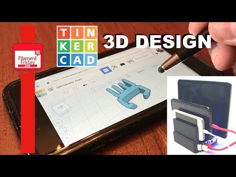 iPhone Charging Stand Designed in Tinkercad