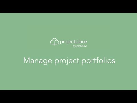 Manage project portfolios
