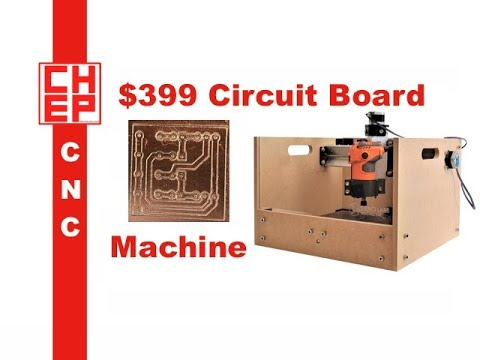 CNC Prototype Printed Circuit Board Milling on $399 Sienci Mill One