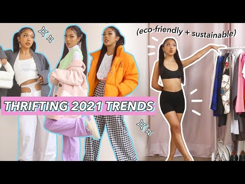 2021 FASHION TRENDS: thrifted winter edition!