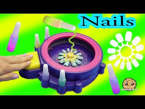 Part 2 Make Your Own Custom Nails with Glitter Nail Swirl Art Kit Maker  - Cookieswirlc Video - UCelMeixAOTs2OQAAi9wU8-g