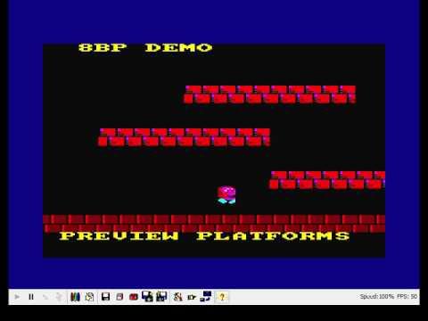 Preview de juego de plataformas con scroll en BASIC programado con  8BP para Amstrad CPC