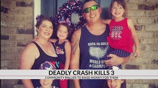 Community raises funds after 3 members of family killed