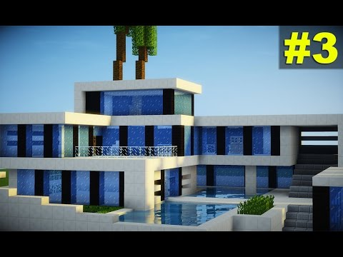 Youtube minecraft tutorial casa super moderna parte 3 for Tutorial casa moderna grande minecraft