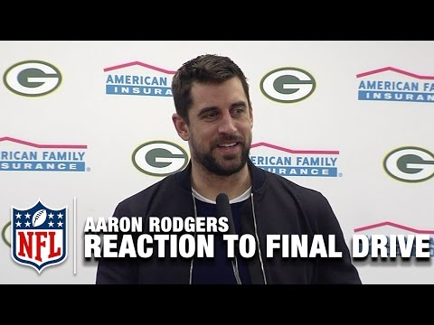 Aaron Rodgers Reaction to Game Winning Drive | Packers vs. Cowboys |  NFL Divisional
