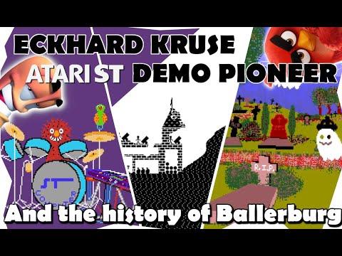 Thumbnail of the video Eckhard Kruse - Atari ST Demo pioneer - The history of Ballerburg -  Grafik und sound & Grusel demo