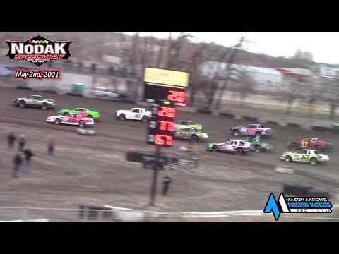 Nodak Speedway IMCA Stock Car A-Main (5/2/21) - dirt track racing video image