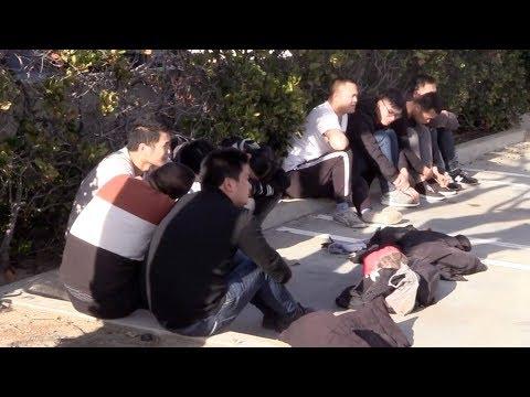 Orange County bắt 12 di dân lậu ngay bờ biển, có 9 người Trung Quốc