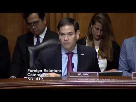 Rubio questions Gov. Haley at U.N. ambassador confirmation hearing