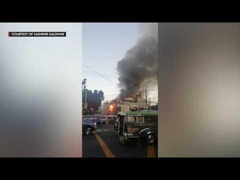 WATCH: Fire ruins buildings in Manila
