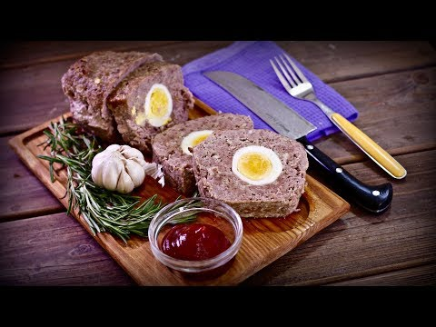 Сочный, мощный мясной хлеб с яйцами | Рекомендую