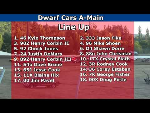 Grays Harbor Raceway, July 24, 2021, Dwarf Cars A-Main - dirt track racing video image
