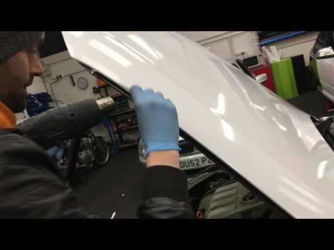 VW Taxi Gets A White Bonnet Wrap 3m Gloss