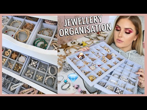 organising my JEWELLERY collection! ? storage inspiration