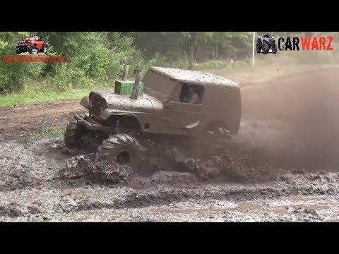 White Jeep Turning The Sloppy Mud At Bentley Lake Road Mud Bog Fall 2018
