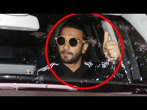 WATCH! Ranveer Singh Tries To AVOID Paparazzi?