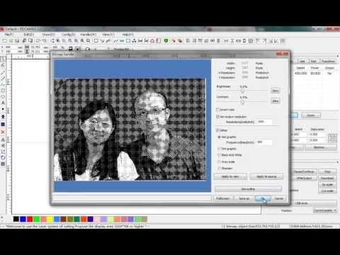 prepare photos for laser engraving with laserwork software, laser photo engraving tutorial - default