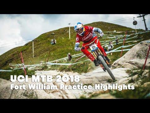 Downhill practice highlights at Fort William.   UCI MTB 2018 - UCblfuW_4rakIf2h6aqANefA