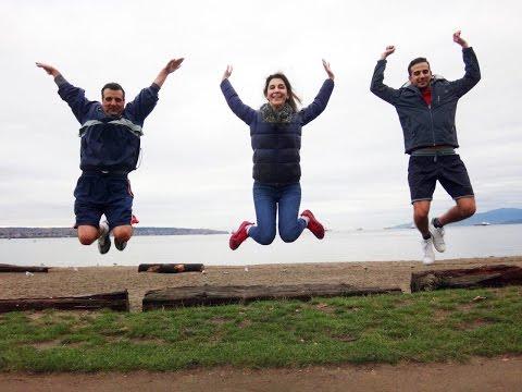 Razavi family visiting Vancouver