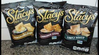 Stacy's Pita Chips: Parmesan Garlic & Herb, Cinnamon Sugar and Simply Naked Review