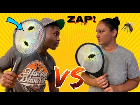 WHO KILLS THE MOST FLIES CHALLENGE | TESTING OUR ELECTRIC FLY ZAPPER - MOST KILLS