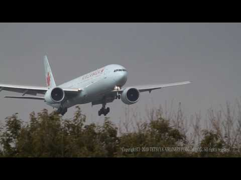 Beautiful Landing Air Canada  Boeing 777-333ER Crosswind landing (Narita) Japan / EOS7D EF100-400L - default