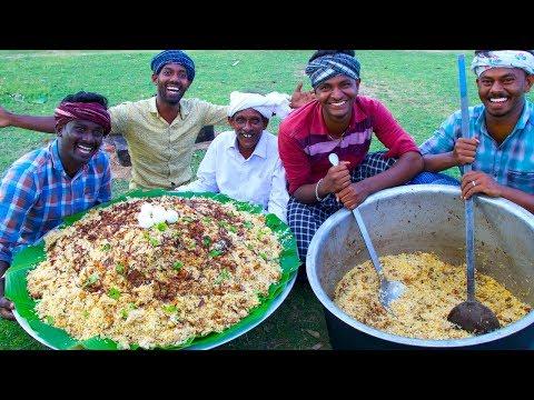BIRYANI | TRADITIONAL PRAWNS BIRYANI | Hyderabadi Style Dum Biryani Recipe Cooking In Village