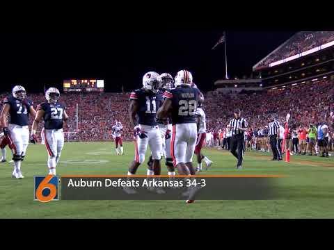 Watch the recap of Auburn's 34-3 win over the Arkansas Razorbacks.